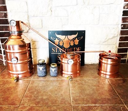 The ORIGINAL LYNE MASTER 6 Gallon (23 Liter) Still with 2 Gallon Thumper and Worm with Dual Adjustable Lyne arms