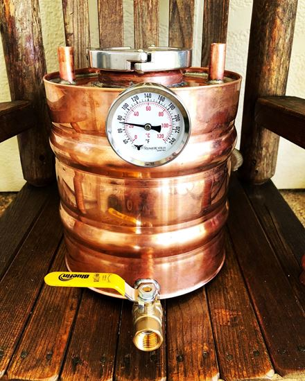1.65 Gallon Copper moonshine Doubler/Thumper for 5 gallon alembic onion top whiskey stills