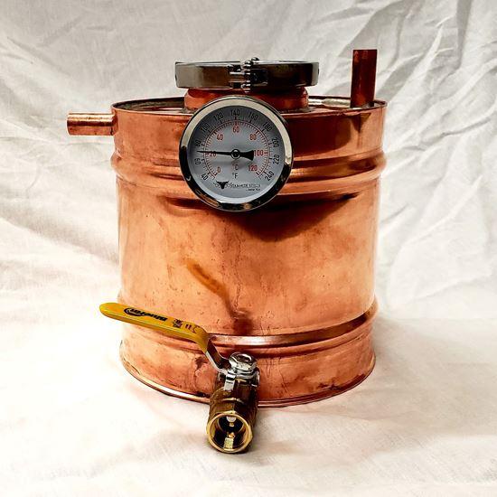 1.25 Gallon (4.75 Liter) Copper Moonshine Thumper for 4 gallon stills