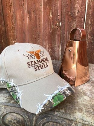 Mossy Oak - Stampede Stills Custom Barbed Wire detailed cap (Tan)