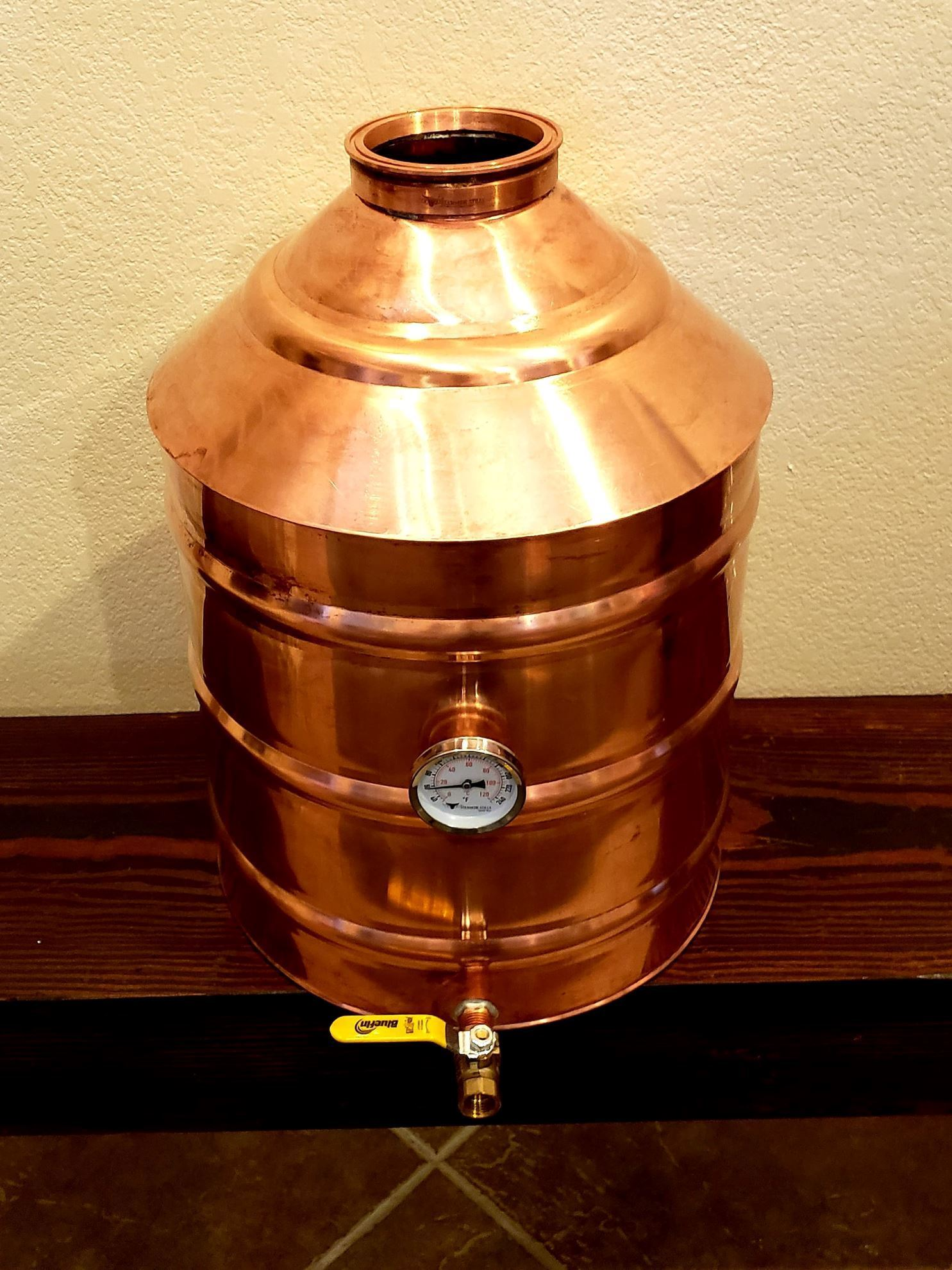 10 Gallon (38L) Copper Distillation Still Pot with 4