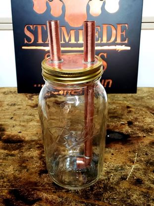 Stampede Stills Copper 1/2 Gallon Widemouth Mason Jar Thumper Kit