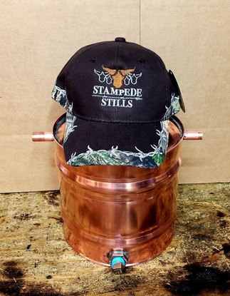 Mossy Oak - Stampede Stills Custom Barbed Wire detailed hat cap (Black)