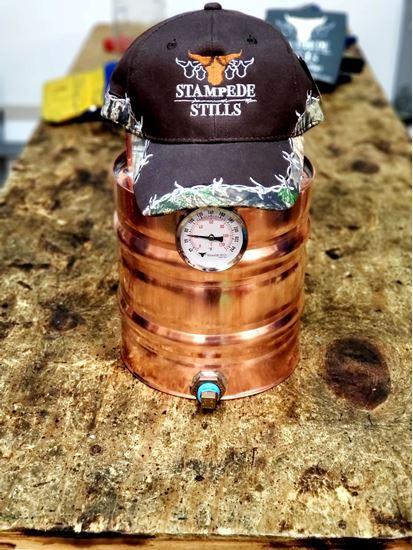 Mossy Oak - Stampede Stills Custom Barbed Wire detailed cap (Brown)