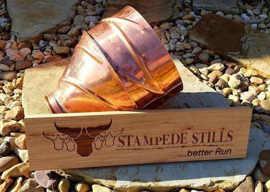"""4 Gallon Copper Swirl Mash Funnel with 4"""" tri-clamp fitting"""