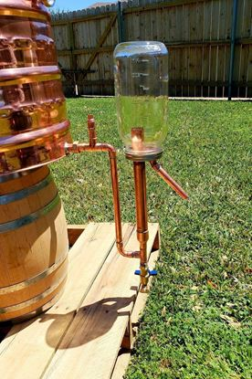 Stampede Stills Copper Caged Proofing Parrot for 1/2 gallon mason jar