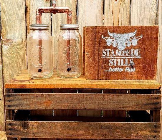 "Stampede Stills Copper 1 Gallon Thumper Herd (TWO Mason Jar Thumper Kit (Half Gallon)(1/2"" piping))"