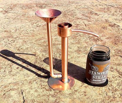 Stampede Stills Artisan Copper Proofing Parrot with Brass Base