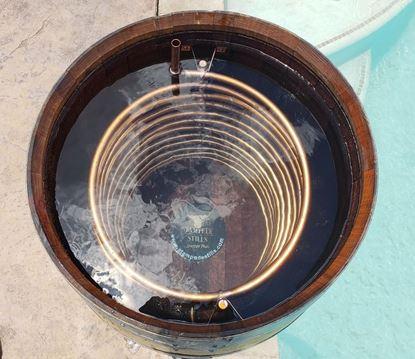 Stampede Stills Original 59 gallon FRENCH Oak Barrel (224 Liter) w/ 50 FEET copper distillation condenser worm/chiller coil