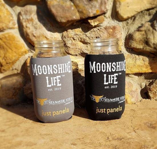 Stampede Stills Moonshine Life ™ Half Gallon Moonshine Mason Jar Coozie