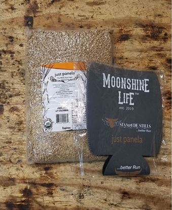 Stampede Stills Moonshine Life Coozie and 5 pounds of Just Panela Bundle