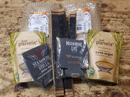 Stampede Stills Just Panela, AMERICAN Oak RUM Wood, and Quart Coozie Bundle