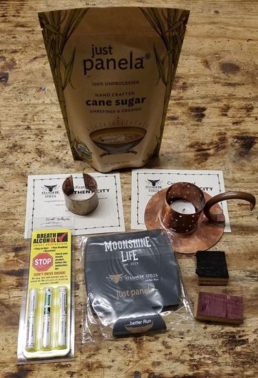 Stampede Stills Home Decor Candle holder and Napkin ring, Just Panela, and Fun Coozie Bundle