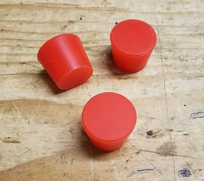 3 Pack of Red Platinum Cured Silicone Rubber Tapered #6 Barrel Bung Plugs