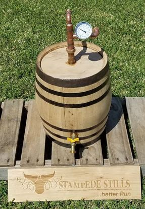 5 Gallon (19 Liter) OAK Bourbon BARREL Distillation Thumper for 15 Gallon (57 Liter) stills