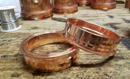"Stampede Stills 100% Copper 3"" Distillation Tri-clamp Ferrule/Sanitary Fitting (slip fit)"