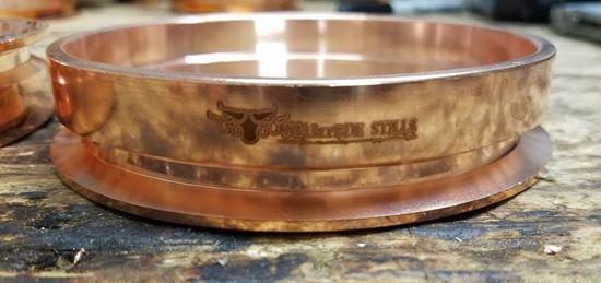 "Stampede Stills 100% Copper 4"" Distillation Tri-clamp Ferrule/Sanitary Fitting (slip fit) logo closeup"