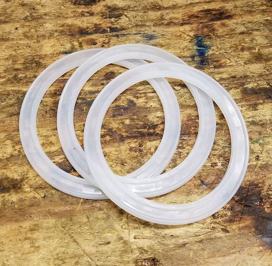 3 pack of Wide Mouth Silicon Mason Jar Thumper Gaskets