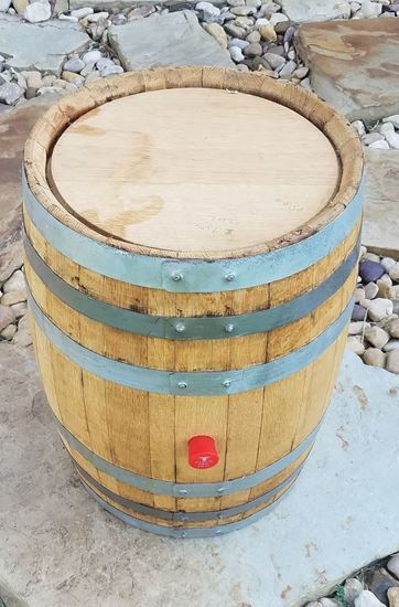 New, Unused 9 Gallon Distillery Oak Aging Barrel with medium char
