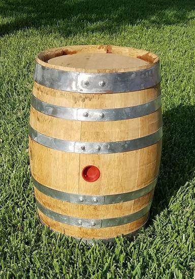 New, Unused 14.25 Gallon Distillery Oak Aging Barrel with medium char
