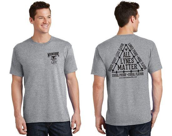 Stampede Stills MOONSHINE LIFE™ LYNE MASTER™ ALL LYNES MATTER T-Shirt X-Large