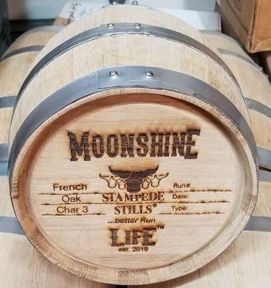 Stampede Stills MOONSHINE LIFE™ Medium Char FRENCH OAK 20 Liter (5 gallon) Aging Barrel