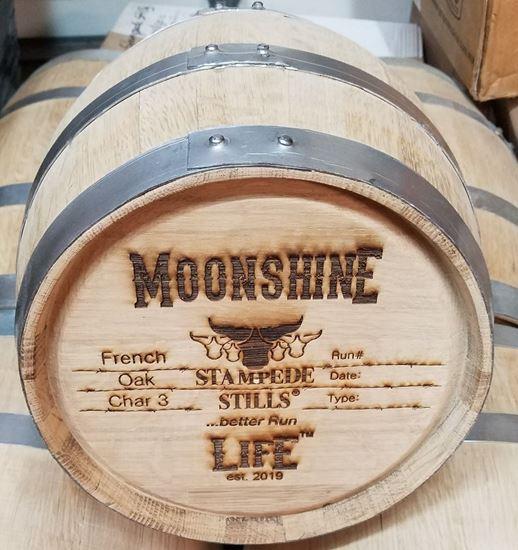 Stampede Stills MOONSHINE LIFE™ Medium Char FRENCH OAK 20 Liter (5 gallon) Aging Barrel