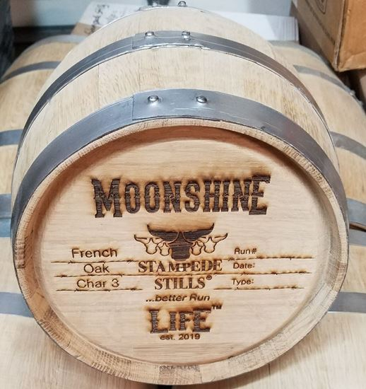 Stampede Stills MOONSHINE LIFE™ Medium Char FRENCH OAK 10 Liter (2.6 gallon) Aging Barrel