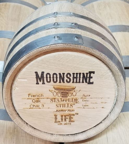 Stampede Stills MOONSHINE LIFE™ Medium Char FRENCH OAK 5 Liter (1.3 gallon) Aging Barrel