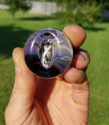 Stampede Stills Custom Hand blown Glass Moonshine XXX Cigar Stand