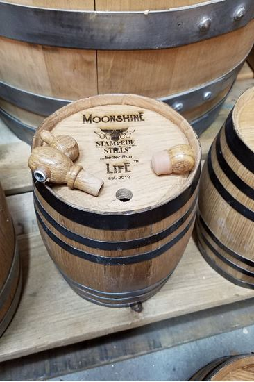 MOONSHINE LIFE LOGO New, Unused 3 Liter (.78 gallon) American Oak Aging Barrel with medium char (3L)