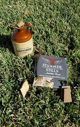 BLACK FRIDAY - MOONSHINE XXX 750ml Glass Moonshine Jug with handle and Cork Bundle