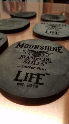 Stampede Stills Moonshine Life™ Motorcyle EPDM Rubber kickstand ground pad - Mason Jar coaster