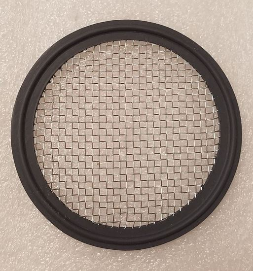 """Stainless Mesh (#10) 4"""" Tri Clover (Tri Clamp) Viton Distilling Gasket for Infusions and Herb/packing plate"""
