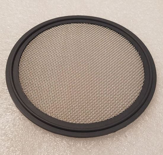 """Stainless Mesh (#20) 4"""" Tri Clover (Tri Clamp) Viton Distilling Gasket for Infusions and Herb/packing plate"""