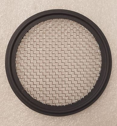 """Stainless Mesh (#10) 3"""" Tri Clover (Tri Clamp) BUNA Distilling Gasket for Infusions and Herb/packing plate"""